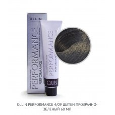 Ollin Perfomance 4/09 Deep Natural Cold Permanent color