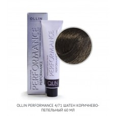 Ollin Perfomance 4/71 Brown Ash Permanent color