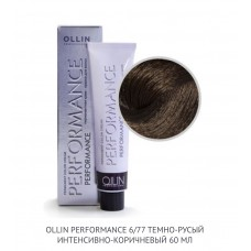 Ollin Perfomance 6/77 Brown Intense Permanent color