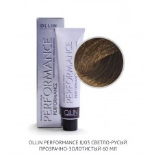 Ollin Perfomance  8/03 Clear Gold  Permanent color