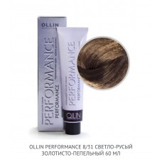 Ollin Perfomance 8/31  Gold Ash  Permanent color